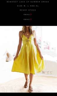 Summer Lace up Dress