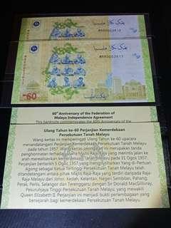 Malaysia Commemorative RM60 MRR0053611-53612