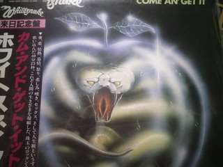 Whitesnake - Come An' Get It Japan pressed Vinyl LP