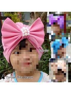 Turban anak warna pink