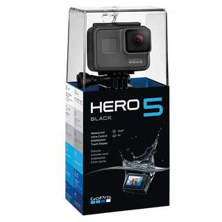 GoPro Hero 5 Black- 12MP, 4K Action Camera
