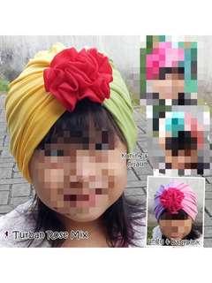 Turban pita anak two tone