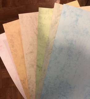 Coloured marble paper