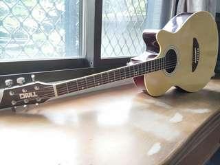🚚 Ting 民謠 新手 吉他 附 吉他 琴袋 guitar
