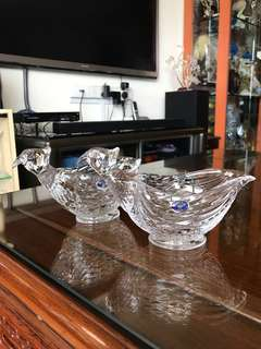 Bohemia crystal quail shape container,  $40/pcs