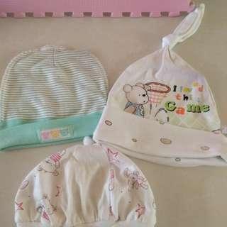 Topi bayi 3pcs