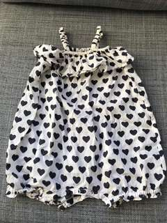 Ultra cute Country Road romper with hearts