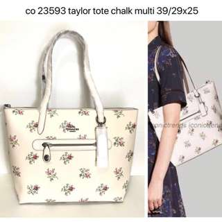 Authentic COACH Taylor Chalk Tote Bag