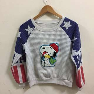 Peanuts Snoopy USA Shirt Size L Boys bin 05