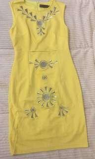 Prive Yellow Dress (size: S)