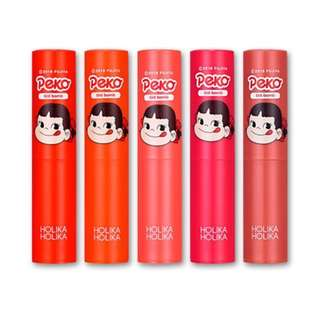 sweet peko x holika holika water drop tint bomb