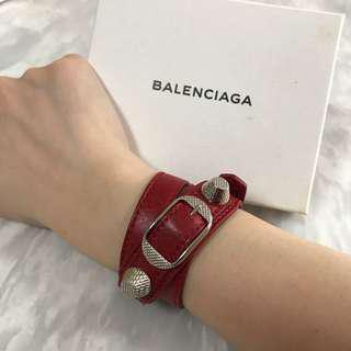 Balenciaga Triple Tour Bracelet SHW, Size S