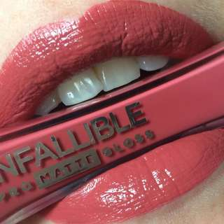 L'oreal Infallible Pro Matte Gloss (Nude Allude)