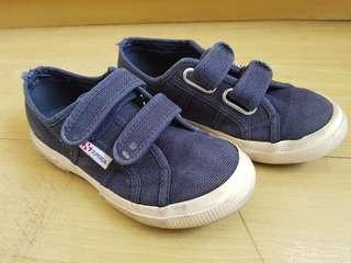 Superga navy blue velcro sneakers