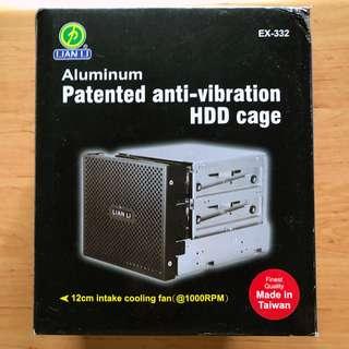 Lian-Li EX-332 Black (Aluminum anti-vibration Hard Disk Enclosure Cage with Fan)