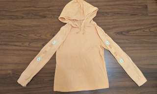 粉橘熊熊🐻長袖連帽衣