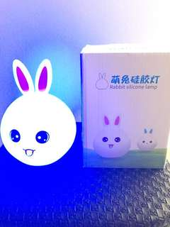 Wts squeezable silicon rabbit night lamp new!