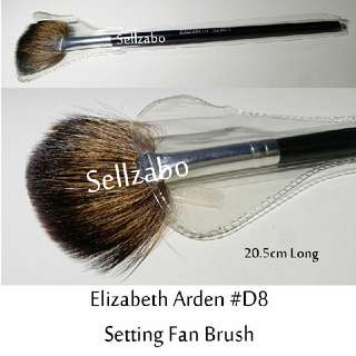 #D8 : Brush : Elizabeth Arden : Brushes : Set : Setting : Fan : Loose : Powder : Black Colour : Applicators : Cheeks : Blush : Blushers : Highlights : Bronzers : Face : Facial : Makeup : Cosmetics : Beauty : Tools : Sellzabo