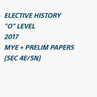 ($8)  E HIST 2017 EXAM PAPERS SOFTCOPY