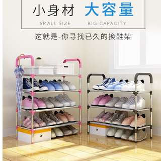 NEW! Quality 5 tier DIY Stainless Steel Bathroom Layer Shoe Rack