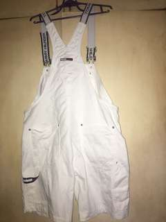 REPRICED vintage tommy hilfiger white overalls