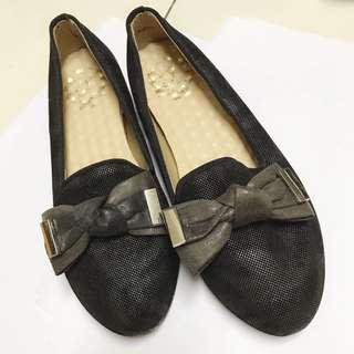 蝴蝶結軟墊娃娃鞋 包鞋 23.5 37號