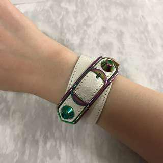 Balenciaga Triple Tour Bracelet RBHW, Size S