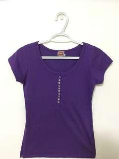 Purple Button Top