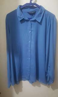 Dorothy Perkins Blue Buttondown