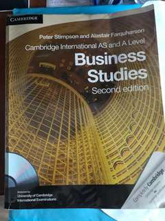 Business studies second edition A levels