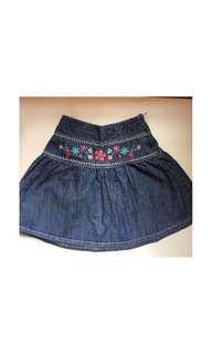 Girls Denim Flare Skirt