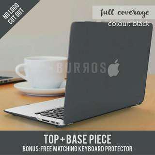 📣INSTOCKS📣 Full Coverage Matte Black Apple Macbook Laptop Hardshell Case Protector