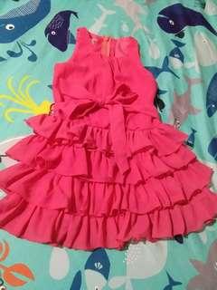 Modern princess pink layered dress