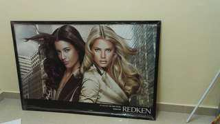 Redken wood wall poster