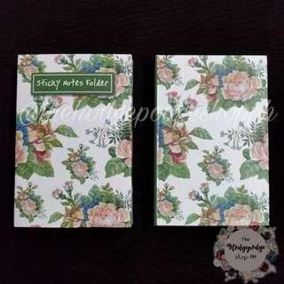 Classic Rose Sticky Notes Folder