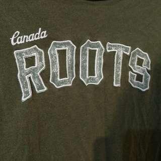 🚚 Roots 長板墨綠上衣