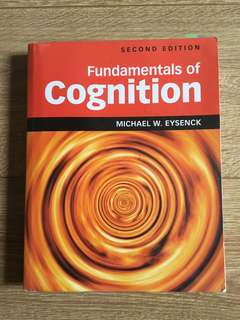 PL3233 Cognitive Psychology Textbook
