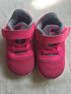 Nike Free RN Pink Rubber Shoes