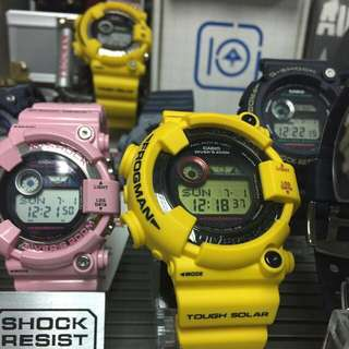 GSHOCK YELLOW FROGMAN