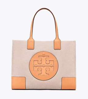 Tory Burch ella canvas tote bag