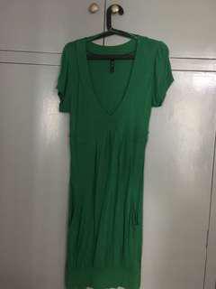 Stradivarius Green Dress