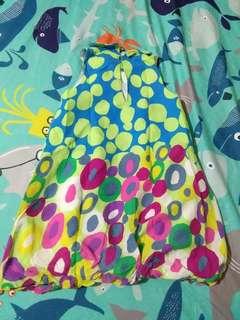 Colorful polka-dot dress