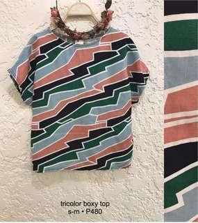Tricolor Boxy Top