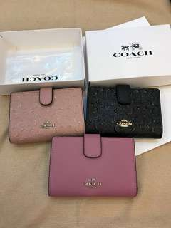 Original coach ready Stock women medium pouch coin pouch