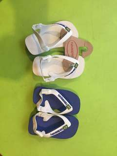 Baby havaianas Flip flops (size19&20) 500each  ⭐️white sold