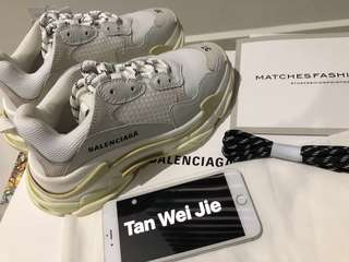 Balenciaga Triple s Cream white 37