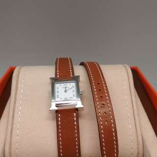 Hermes Watch Double Tour PM Gold SHW