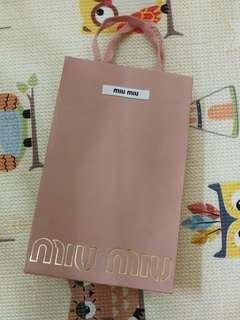 Miu Miu paper bag