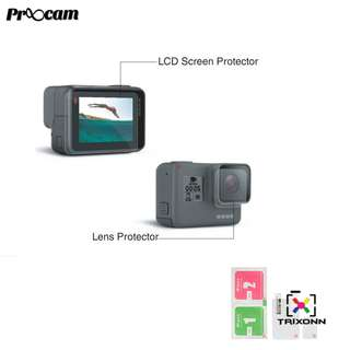 Proocam PRO-F209 Best Material Film Lens and LCD Screen Protector for Gopro Hero 5 6