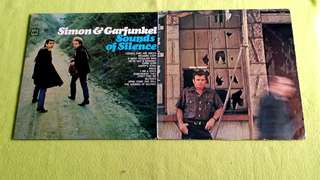 SHIRL MILETE . ~ ● SIMON & GARFUNKEL . sounds of silence (buy 1 get 1 free )   vinyl record